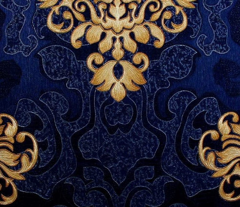 royal blue with gold damask wallpaper design 533667. Black Bedroom Furniture Sets. Home Design Ideas