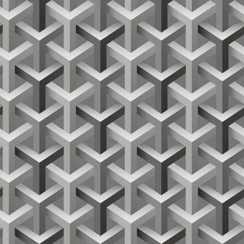 Grey 3D Geometric Pattern Wallpaper A4-25P02 | Decor City