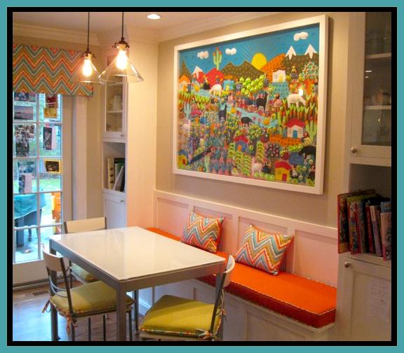 Colorful Breakfast Area