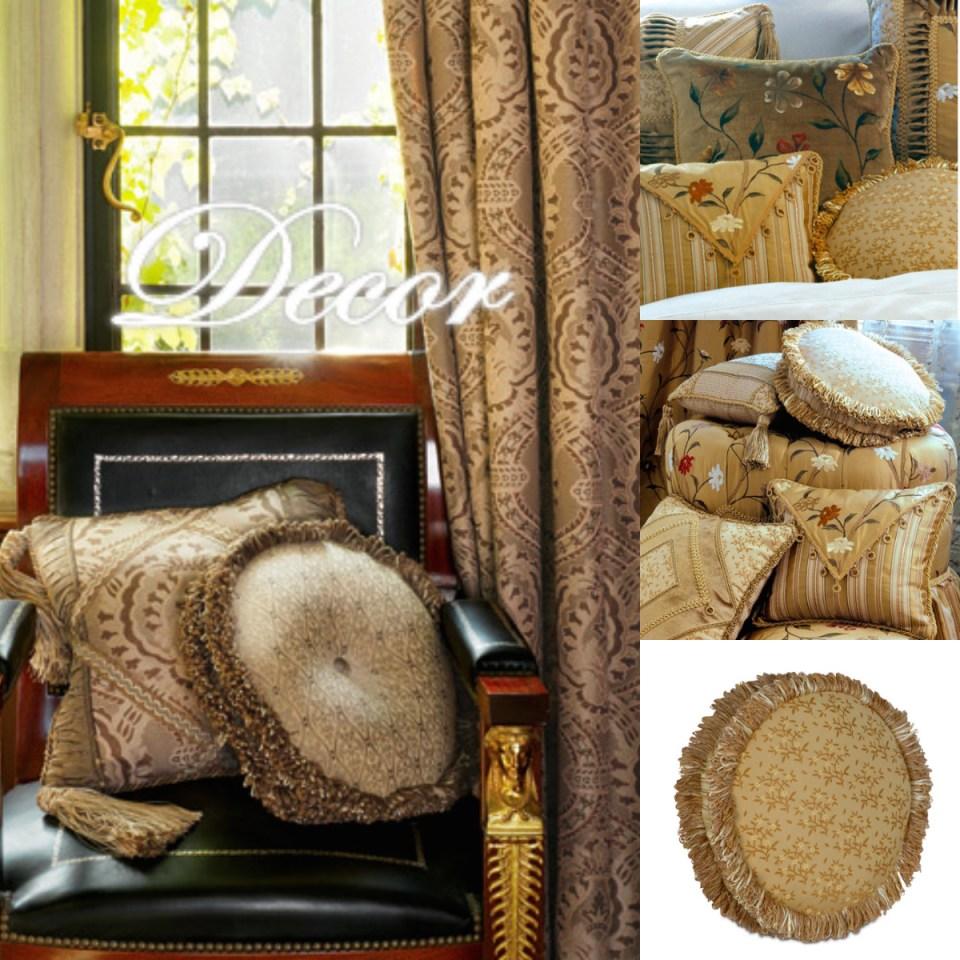 decorative pillows & drapery panels