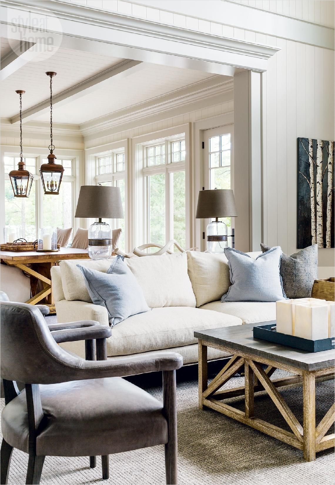 Dozens of inspiring ideas to decorate your living room, from countryliving.com. 35 stunning casual living room decorating ideas for 2020 5 ...