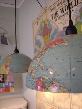 lámparas medios globos terraqueos