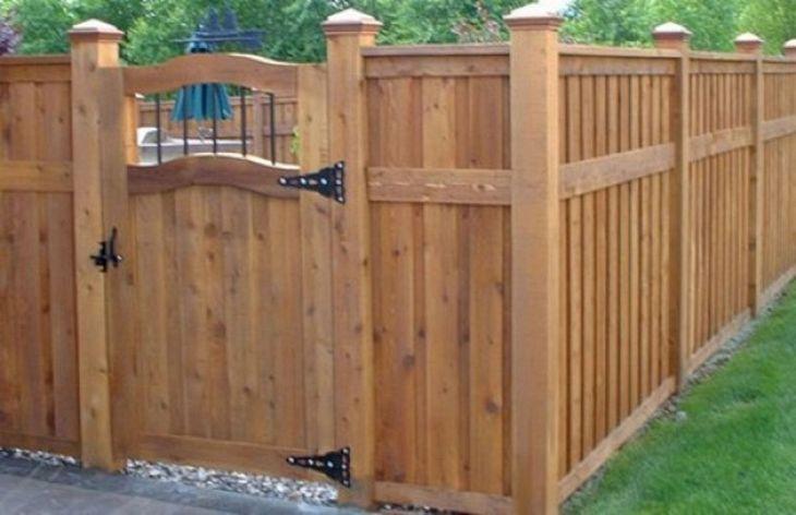 DIY Wooden Garden Fence Design