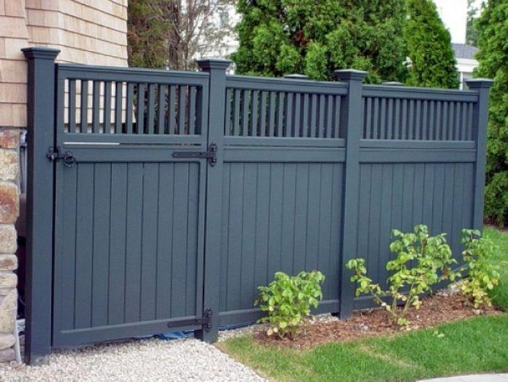 Wooden Garden Fence Design
