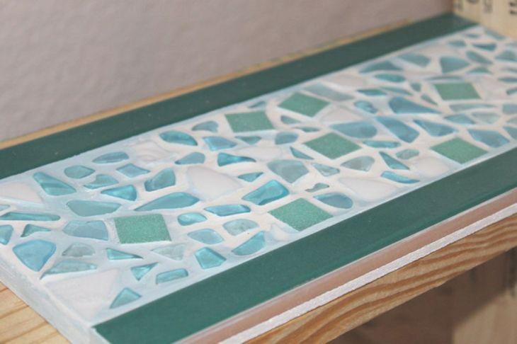 Sea Glass Backsplash Tile