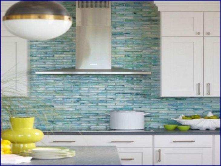 5 Sea Glass Tile Kitchen Backsplash