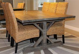 Ana White Fancy X Farmhouse Table