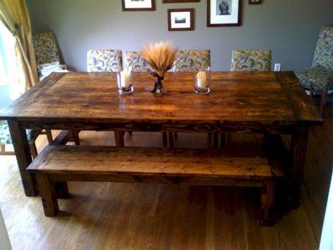 DIY Farmhouse Dining Table Plan