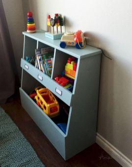 DIY Toy Storage Bin Shelf