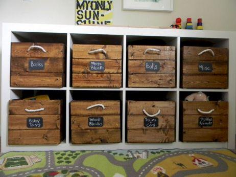 DIY Wood Crate Toy Storage