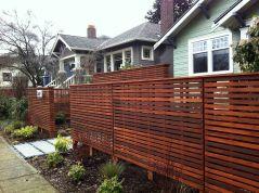 Horizontal Privacy Fence Idea