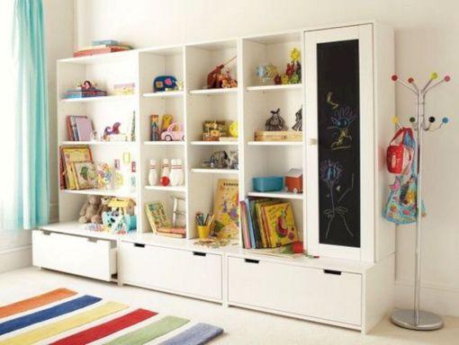 Kids Bedroom Wall Storage Ideas