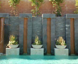 Black Modern Pool Tiles