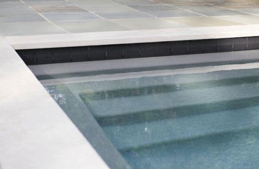 Black Water Line Pool Tile