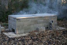 Cinder Block BBQ Pit