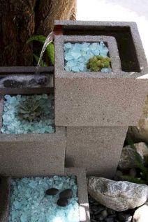 Cinder Block Fountain