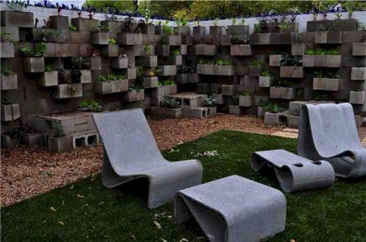 Cinder Block Garden Wall Ideas