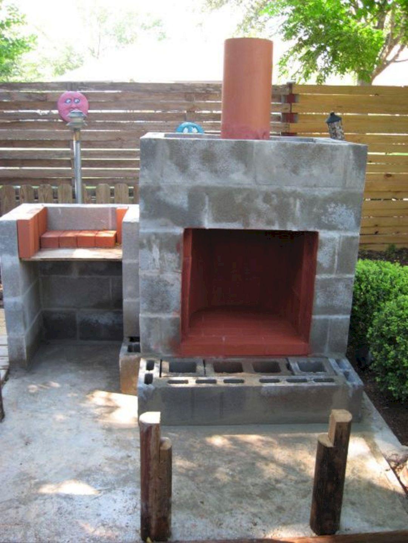 Cinder Block Outdoor Fireplace Design - DECOREDO on Outdoor Fireplace With Cinder Blocks id=78497