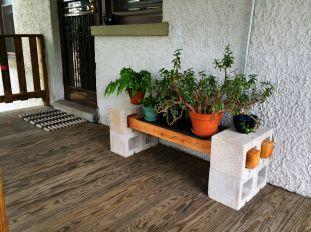 DIY Cinder Block Plant Stand