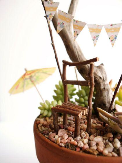 DIY Stick Fairy Garden Furniture