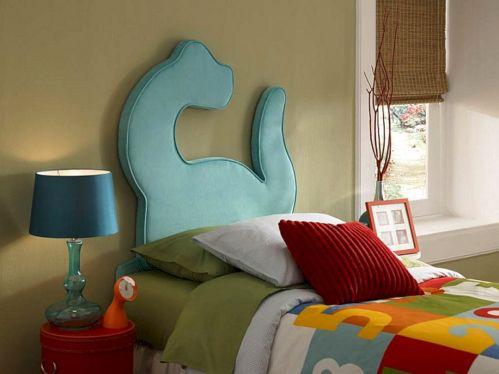 Dinosaur Twin Headboard for Bed