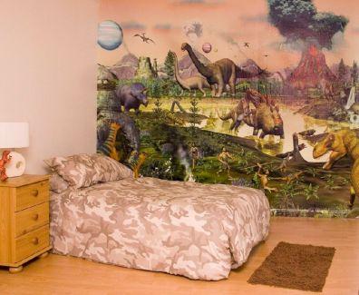 Dinosaur Wall Mural Bedroom