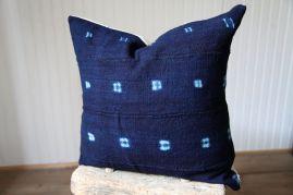 Indigo African Mud Cloth Pillows