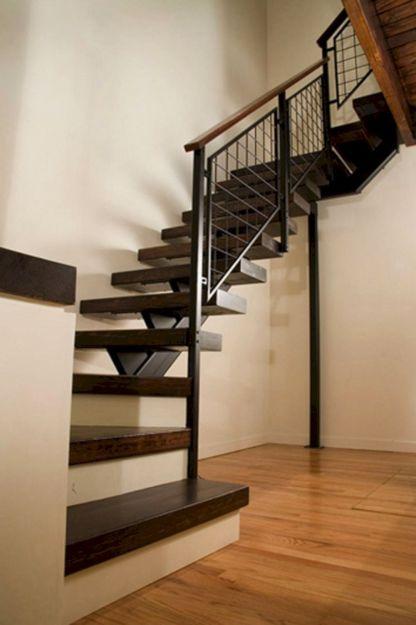 Metal and Wood Stairway