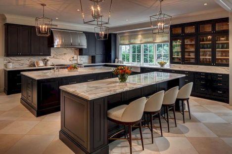 Modern Double Kitchen Island Design