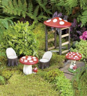 Mushroom Fairy Garden Furniture