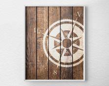 Nautical Compass Art Print