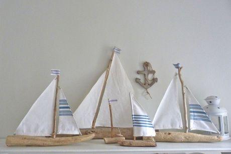 Nautical Driftwood Sailboat Home Decor