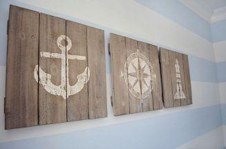 Nautical Wood Wall Art Decor
