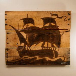 Pirate Ship Wall Art