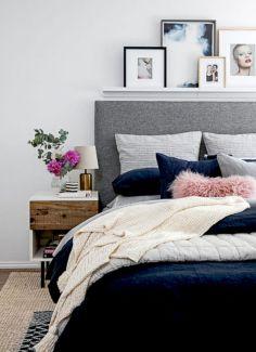 65 The Best Way to Beautify Your Bedroom Headboard 0047