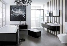 Black and White Modern Bathroom Design Ideas