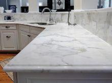 Calcutta Marble Kitchen Countertops