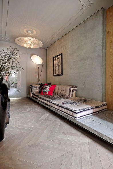Chevron Grey Wood Flooring Ideas