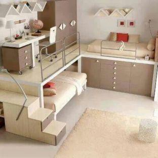 Cozy Bed Loft Ideas For Beloved Twin Kids 331