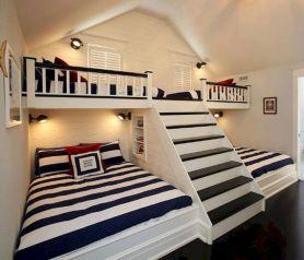 Cozy Bed Loft Ideas For Beloved Twin Kids 361