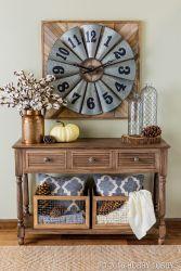 Entryway Table Decor Ideas for Fall 10