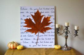 Fall Leaf Wall Decorations DIY