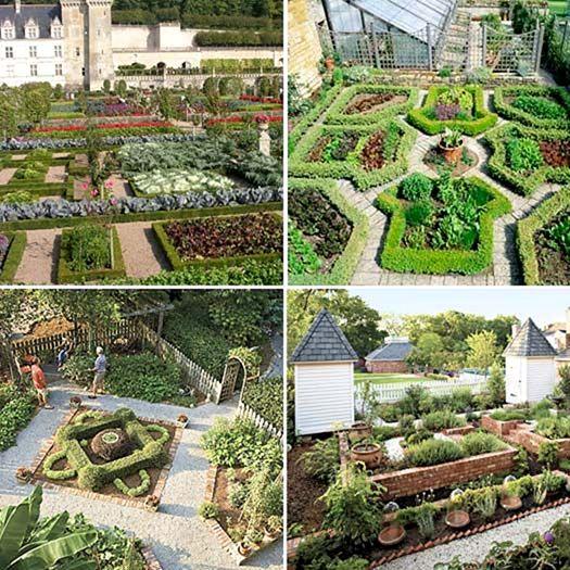 Potager Garden Design Ideas: French Kitchen Garden Potagers