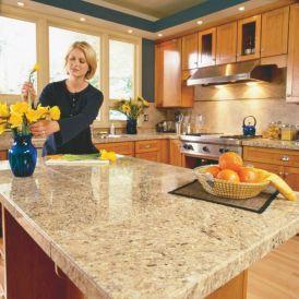 Granite Tile Kitchen Countertop