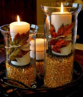 Hurricane Vases Fall Thanksgiving