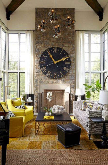35 Attractive Living Room Design Ideas: 35+ Beautiful Living Room Wall Decor With Clocks Ideas