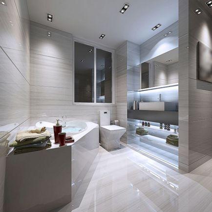 Luxury Modern White Bathroom Designs