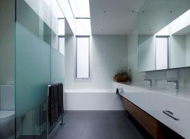 Modern Contemporary White Bathroom