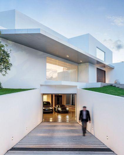 Modern House Plans with Underground Garage