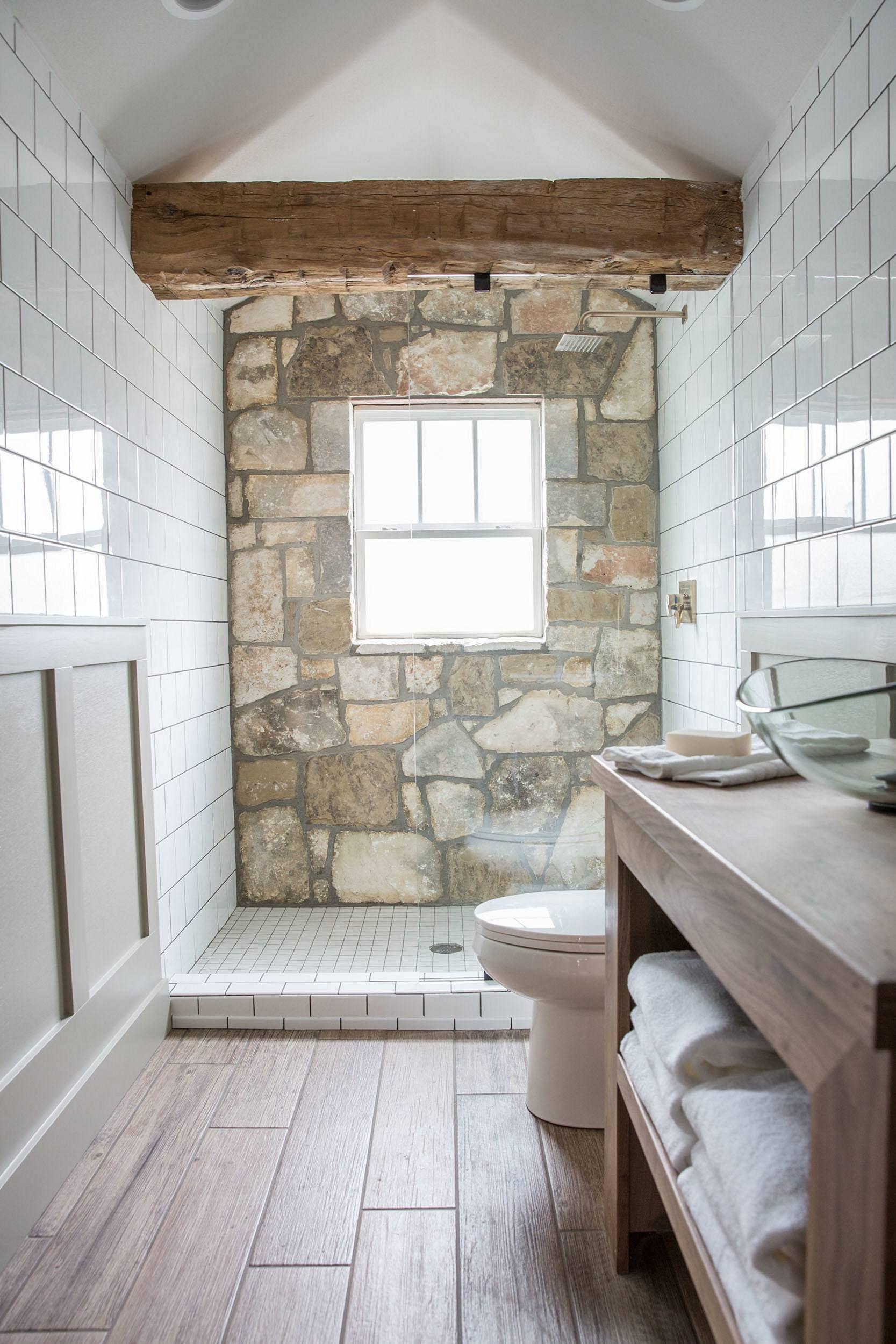 Rock Wall Bathroom Design Ideas Decoredo